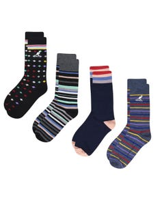 Kangol Diamonds & Stripes Dress Socks 4-Pack
