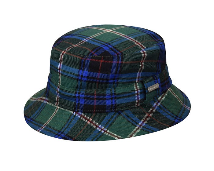 fcf4198016bb3e The 80th Anniversary Reversible Bucket features a custom made Kangol® tartan  & Melton Wool. These limited edition hats are cut by hand for perfect  pattern ...