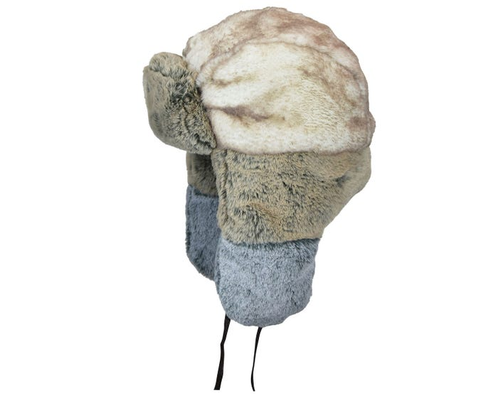 0d585b424b87c The Multi Faux Fur Trapper will keep you warm as the tempetures drop. It  features an oversized crown with padding for the coldest temperatures with  earflaps ...