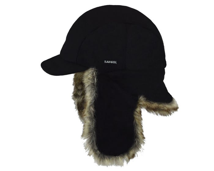 ba24055fe282a The Wool Aviator shape was inspired by the air force but made for civilian  style. This style features a neck protector panel along with earlaps that  can be ...