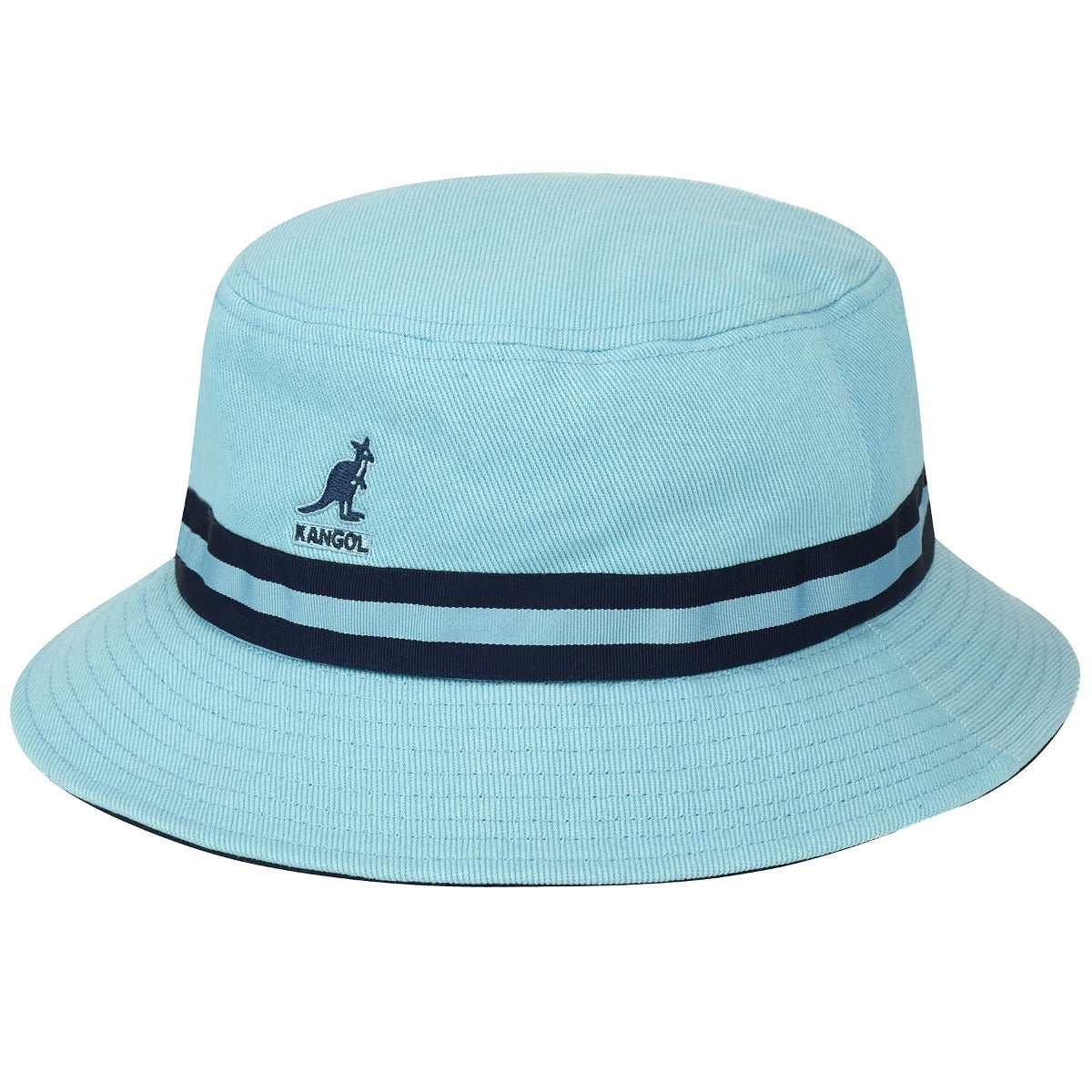 Kangol Mens Stripe Bucket Hat Cotton