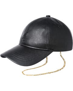 Luxe Faux Leather Baseball