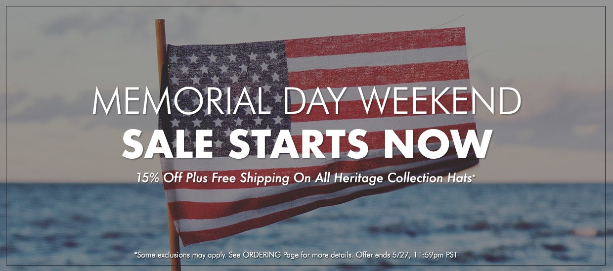 15% off + free shipping on all Heritage Collection