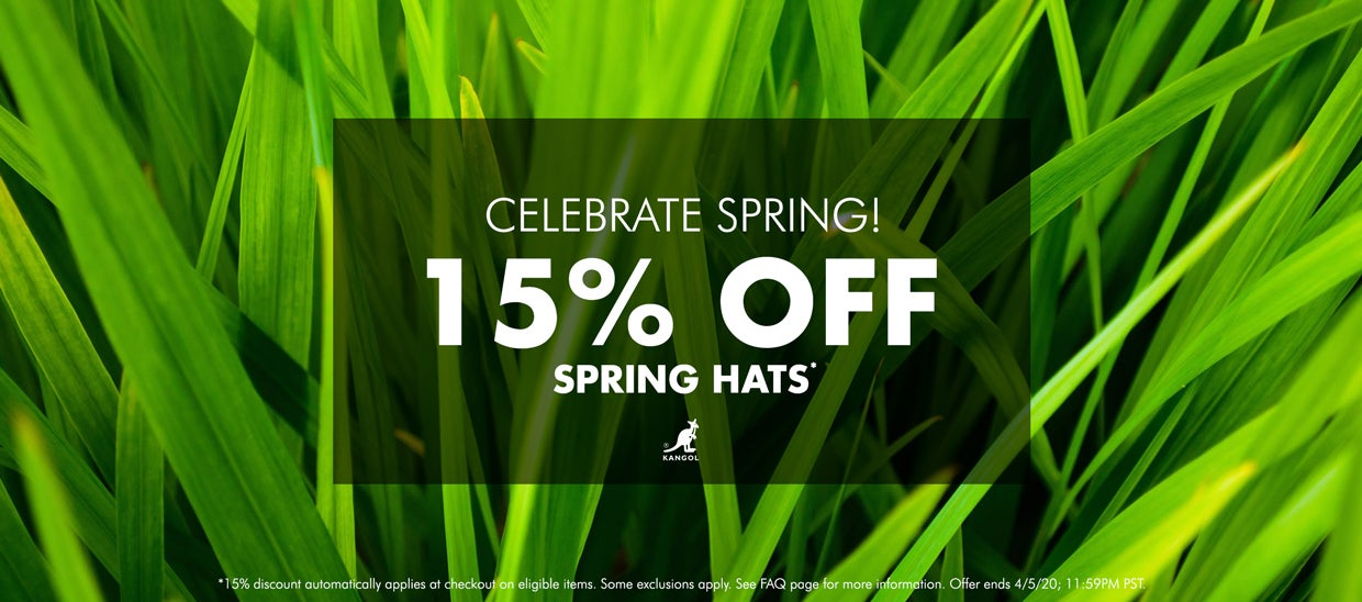 15% Off Spring Hats!